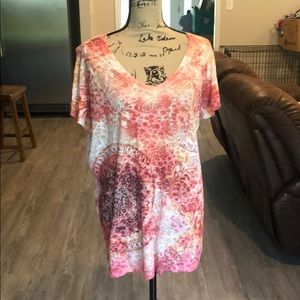 Maurice's burnout tee plus size 2